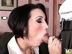 Dylan Ryder getting face fucked silly by Voodoo