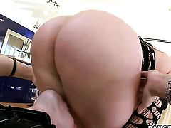 Huge ass girl is fucked hard