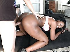 Nyomi Banxxx with bubbly ass needs face cumshot badly