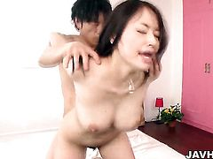 Asian woman is getting a threesome
