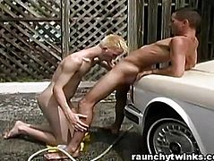 Hot Jocks Carwash Service Turns To Crazy Gay Fucking