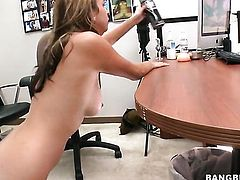 Brunette Nikki Dohmer knows that hard fuck is the only thing that can make her feel better