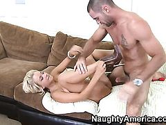 Briana Blair with huge hooters and hairless twat cant wait to be slammed by her hot Charles Dera
