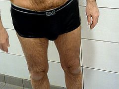 GENT'S ONLY swimming pool showers, I rinse and strip-off.
