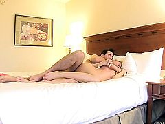 Manuel Ferrara makes Extremely hot wench AJ Applegate suck his thick dick non-stop after she takes it in her asshole