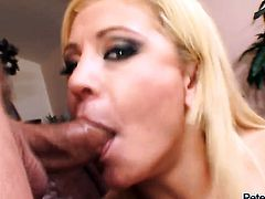 Cali Cassidy shows off her sexy body as she gets her mouth banged by mans sturdy love stick