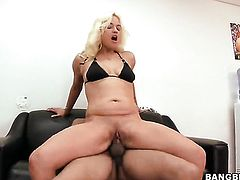 Blonde Cameron Cain gives stroke job on camera for your viewing enjoyment