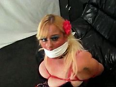 Tied in my lingerie blowjob