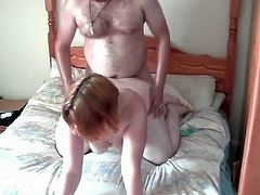 Fucking my Fat Horny BBW Ex GF on her parents bed