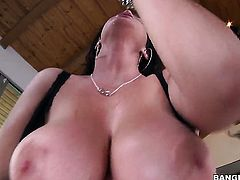 Huge tits babe does anal