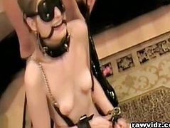 BDSM Blonde Strap On Fucked By Her Sex Mistress