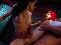 Rebeca Linares gets her lovely face jizz covered after sex with horny man