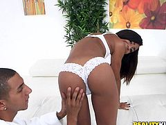 Nicole Bexley is one of the hottest ebony girls out there. Her body is a perfect harmony of perky tits, you'd love to put in your mouth, thin waist, you'd love to put your hands on, while you penetrate her from behind, to her big bubble butt, you'd love to bust a nut on. She has one smoking hot body.
