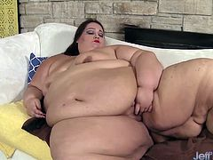 Fatty mammoth BBW teases her pussy and masturbates with her favourite dildo and vibrator. She gets orgasm in the end.