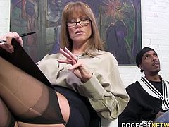 Darla Crane wants big black cock. Charlie treats Darla's throat to dinner of gigantic black cock. She lets out all her sexual frustration on Charlie's black dick...