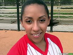 A hot brunette latina is a rare appearance on the sports field. This bitch loves to keep fit and also enjoys to get dirty. Click to watch slutty Priya, showing her big boobs to the camera. She's got a large sensual smile and the lucky winner gets to admire her crazy ass, too. Have fun and relax.