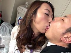 Asian women exactly know what a real man wants. Seducing them is not a tough task and once they are in love with you, they will show you heaven on earth. In this video, Japanese milf with big boobs and puffy nipples groped hard and her man had enjoyed really hot Asian milf.