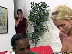 Emily Austin and Nikki Hunter share Charlie Mac's black monster cock. Mom and daughter put any family issues away when they decide to attack that massive black cock at once!