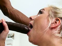 Milfs always love to get fucked by big black cocks, but they don't prefer these fat dicks to give blowjobs. But some milfs, like Harlow Harrison, love to take the risk. Their throats get fucked and the final result will be expanded and stretched wide open mouths.