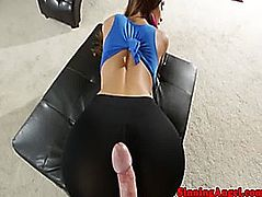Big titted glamour babe pov riding