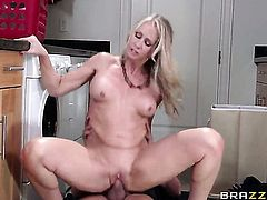 Busty blonde is getting fucked