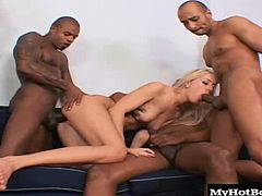 Theyre always craving the dark meat and they love the way black guys fuck. They cant get cocks this big where they come from, and they say the cum tastes extra sweet.