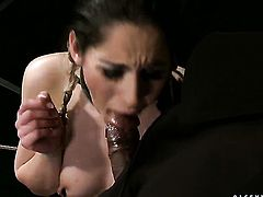 Jesika Gold gets boned hard and deep by mans erect fuck stick in interracial action