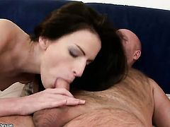 Brunette Ann Marie La Sante screams from endless orgasms after getting banged good and hard good and hard by hot guy