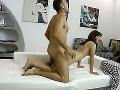Lora R lets Rocco Siffredi stick his meaty rod in her mouth