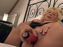 She is 60 but she can still fuck. All those years of experience have made her a really wonderful lady. She was dripping wet after all these years. Her sex toy was shoved deep in her cunt, as she sucked her man off.