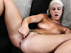 Blanche Bradburry bares it all and then masturbates in closeup