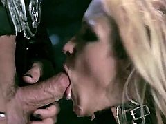 Fine ass blonde is getting an anal gangbang. She is screaming as a hard dick is penetrating her back door. She likes to have it plugged up. It turns her on.