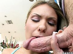 Blonde Aubrey Addams with juicy butt gets her nice face jizz covered on camera for your viewing entertainment