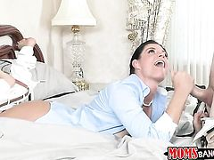 Mature is desperate for cock juice