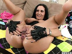 Fuck hungry tart Ava Addams with gigantic melons looking for a chance to get orgasm after hard bush fucking