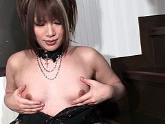 Bootylicious shemale from Japan is happy to show all of her assets