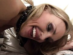 Debbie White getting her flexible backdoor slam fucked by Rocco Siffredi after throat job