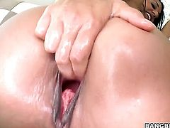 Lyla Storm gives unbelievable sexual pleasure to horny guy in interracial sex action