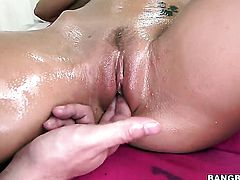 Capri Cavalli with round butt is just a slut that masturbates a dude
