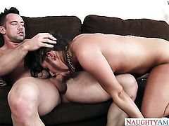 Johnny Castle gets seduced into fucking by Asian Gracie Glam with phat butt