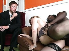 Jon Jon makes Nina Hartley scream and shout with his erect fuck stick in her twat