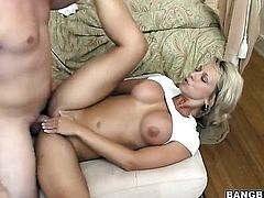 Blonde Brianna Beach believes that fresh cum gives her sexual energy to spend