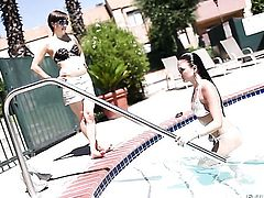 Belladonna and Mia Rose are two dykes that have lesbian sex for the camera with wild passion