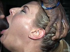 You can't try some sexual fantasies at home and this video also comes in that category. In this video, Angel Allwood is tied-up, humiliated and throughout the session, she was being mouth fucked. Even after reaching several intense orgasms also, her masters didn't let her go.