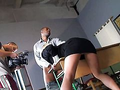 Blonde Carla Cox with gigantic breasts gets the hole between her legs fucked hard interracially