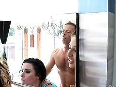 Veruca James with giant breasts cant live a day without taking Rocco Siffredis stiff meat pole in her bottom after suck job