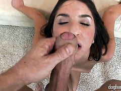 Mr. Pete gives irresistibly hot Lily Carters love box a try in hardcore sex action