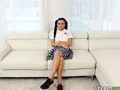 At first glance itself, I wanted to fuck this schoolgirl. Her sexy long legs and curved structure gave me an instant hard on. I offered her money and to my surprise, she agreed to come to room. I pounded her hard and I still couldn't forget her soft pussy lips. She is really hot!!!