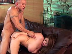 Porn Whore Slobbers and Fucks a Big Dick