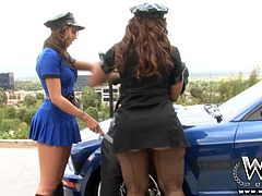 These bootalicious cops are on patrol looking for a hard BBC. They find Nat who is perfect for the job in hand. He nails those booties fair and square.